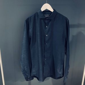 Bonobos Blue Buffon-Down Shirt